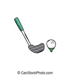golf cartoon icon theme vector art illustration