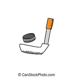 ice hocket cartoon icon theme vector art illustration