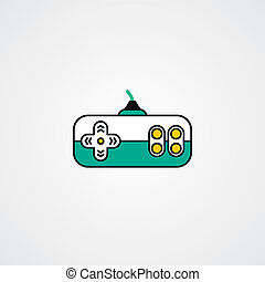 joystick video game console theme vector art illustration
