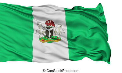 Abuja City Isolated Waving Flag - Abuja Capital City Flag of...
