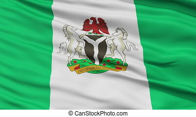 Abuja City Close Up Waving Flag - Abuja Capital City Flag of...