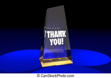 Thank You Appreciation Recognition Award Words 3d...
