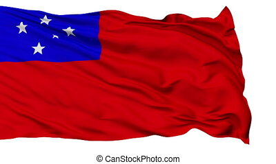 Apia City Isolated Waving Flag - Apia Capital City Flag of...