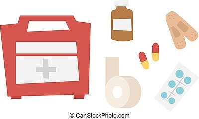 Car medical kit vector illustration.