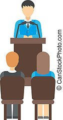 Business conference people vector illustration.