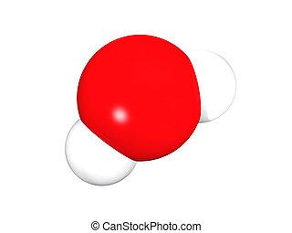 Water molecule - 3D rendering of the model of water molecule...