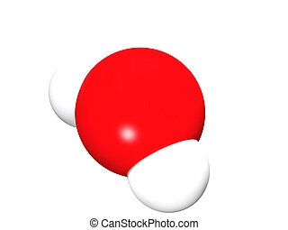 Water molecule - 3D rendering of the model of water molecule...