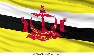 Bandar Seri Begawan City Close Up Waving Flag - Bandar Seri...