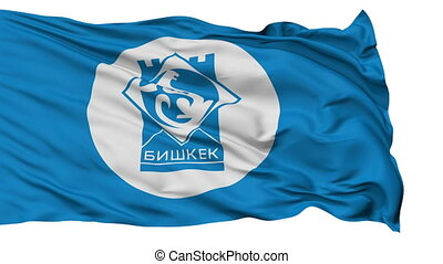 Bishkek City Isolated Waving Flag - Bishkek Capital City...