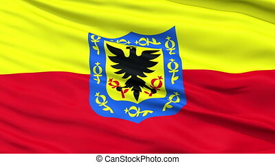 Bogota City Close Up Waving Flag - Bogota Capital City Flag...