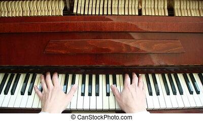 Playing piano. man playing piano - Playing piano. Close-up...