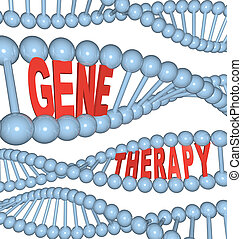 Gene Therapy - Words in DNA - The words Gene Therapy in DNA...