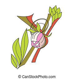 Floral font 2. Letter Y