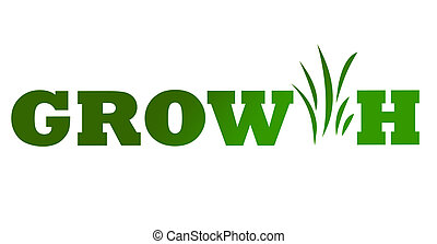 Green business growth icon - Conceptual illustration of...