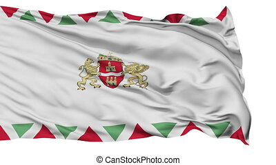 Budapest City Isolated Waving Flag - Budapest Capital City...