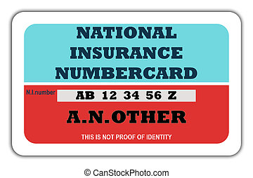 National Insurance Numbercard - Blank British National...