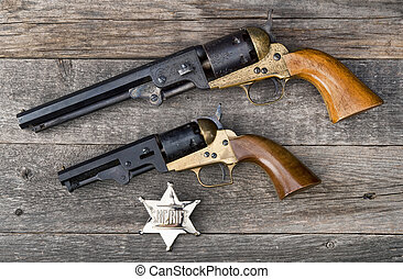 Old Western Guns. - The guns that won the west and silver...