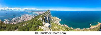 Panorama Gibraltar Rock - Panorama of top of Gibraltar Rock,...