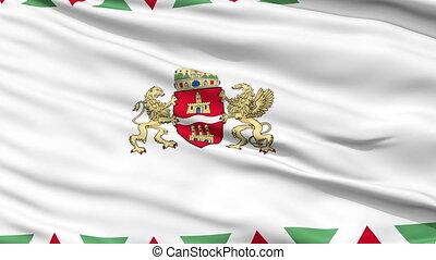Budapest City Close Up Waving Flag - Budapest Capital City...