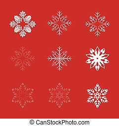Collection snowflakes for use in design