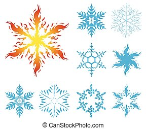 Collection snowflakes for use in design 2