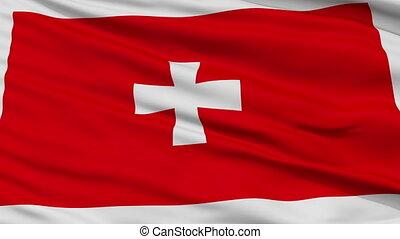 Cetinje City Close Up Waving Flag - Cetinje Capital City...