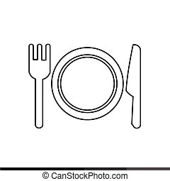 Plate fork and knife icon Illustration design