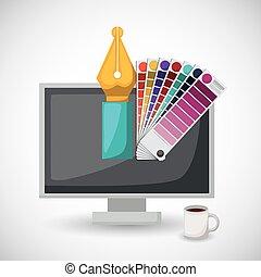 creative process design - creative process design, vector...