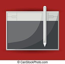 digitizing tablet design - digitizing tablet design, vector...