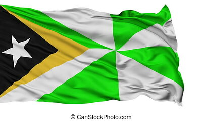 Dili City Isolated Waving Flag - Dili Capital City Flag of...