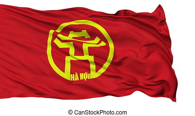 Hanoi City Isolated Waving Flag - Hanoi Capital City Flag of...