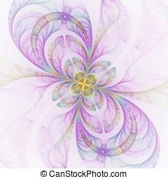 Abstract floral shapes