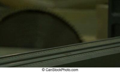 Circular blade disk. - Circular blade disk at work at a...