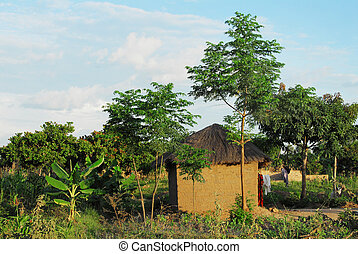 Africa house - mud hut in Africa