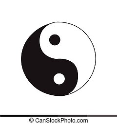 Ying yang icon Illustration design