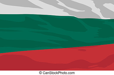 Vector flag of Bulgaria