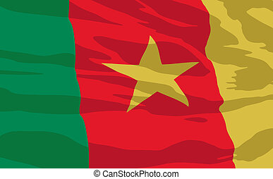 Vector flag of Cameroon