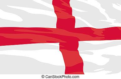 Vector flag of England