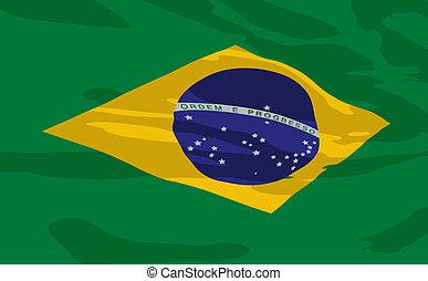 Vector flag of Brazil