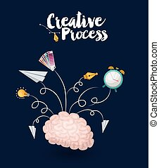creative process design, vector illustration eps10 graphic