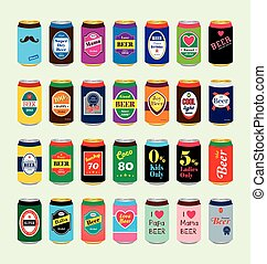 beer can vectoreps - a series of beer can vector...