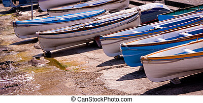 Boats in Capry, Italy - Boats in a row, Capry, south of...