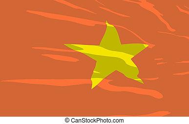 Vector flag of Vietnam