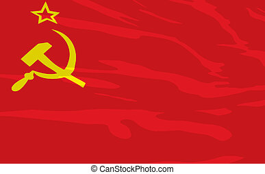 Vector flag of USSR