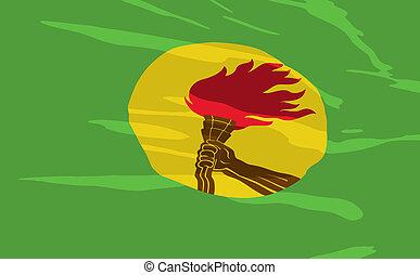 Vector flag of Zaire
