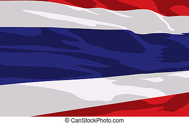 Vector flag of Thailande