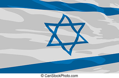 Vector flag of Israel