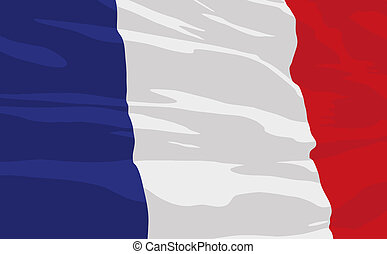 Vector flag of France