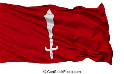 Kathmandu City Isolated Waving Flag - Kathmandu Capital City...