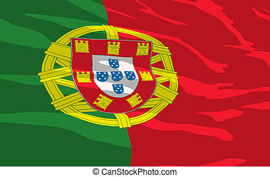Vector flag of Portugal